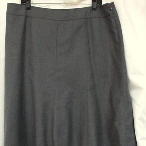 PENDLETON Gray Wool Fully Lined Flared Skirt